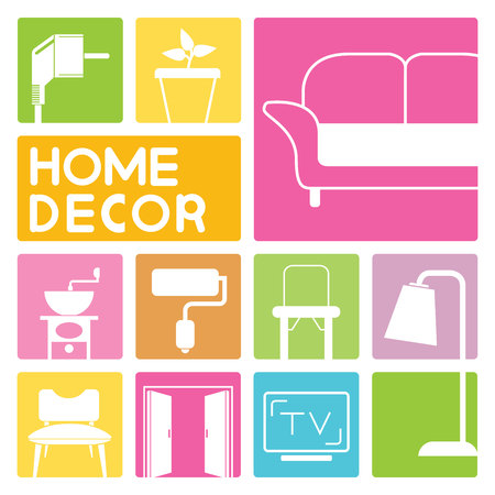 home furniture icons, home design
