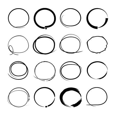 scrawl: sketched circles Illustration