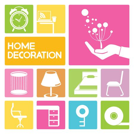 homely: home furniture icons, home decoration
