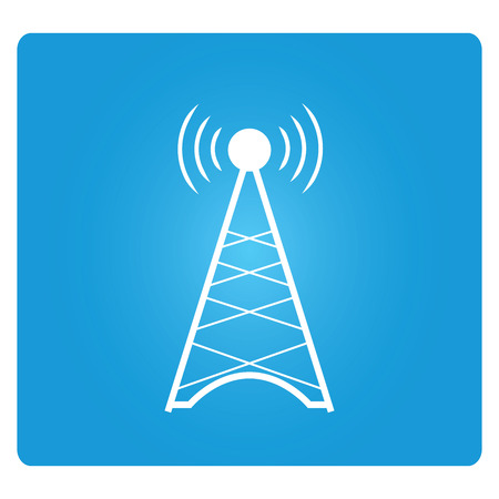 transmitting: telecommunications radio tower Illustration