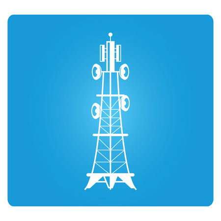 telecommunications radio tower Illustration