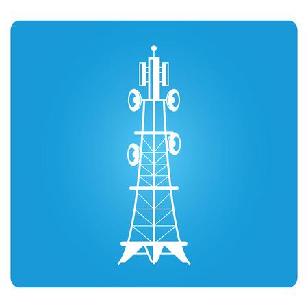 radio tower: telecommunications radio tower Illustration