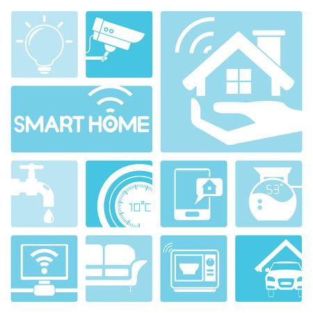 icônes de la maison intelligente Vecteurs