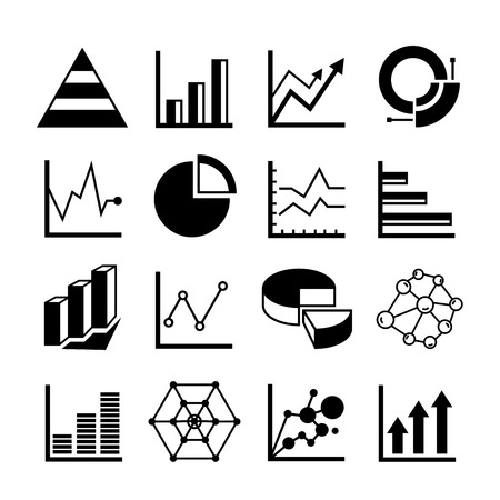 deliberation: graph and chart icons