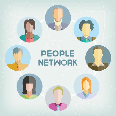 team group: people network