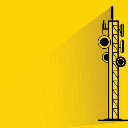 communication antenna tower Illustration