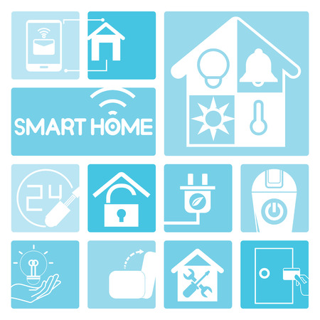 home security: smart home icons