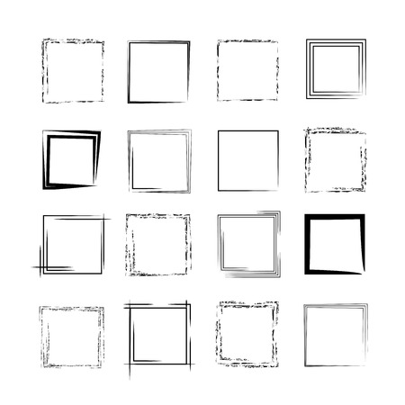 rectangle patterns: grunge frames, borders