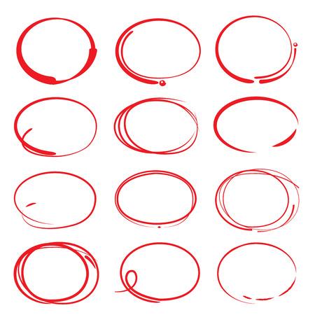 loop: elementos de relieve, dibujado a mano con rotulador Vectores