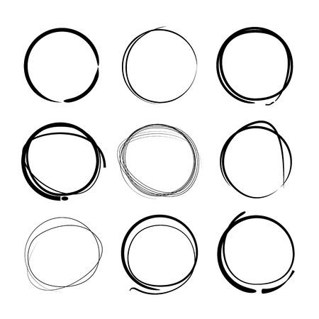 highlighting: circles, highlighting elements