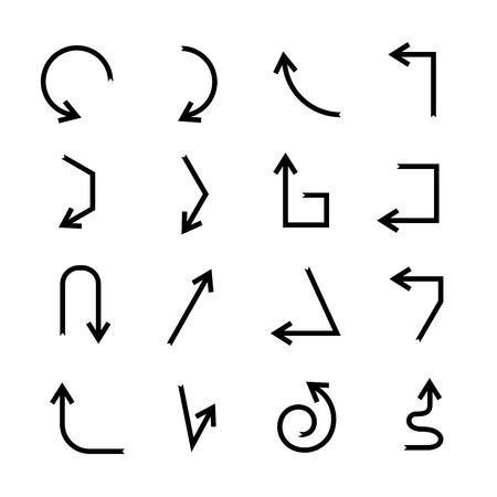 arrow icons: arrow icons set  Illustration