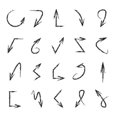 arrow icons: sketch arrow icons Illustration