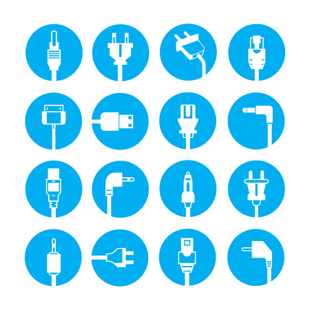 cables: plug icons Illustration