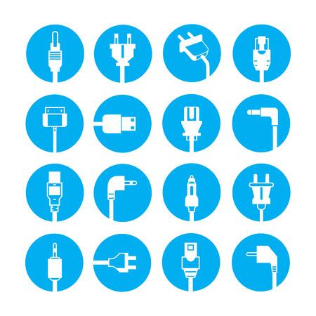 plug icons Illustration