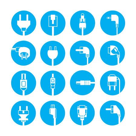 plug: plug icons Illustration