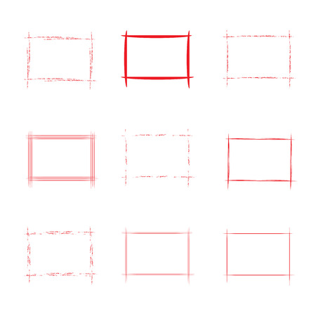square frame: red square frame Illustration