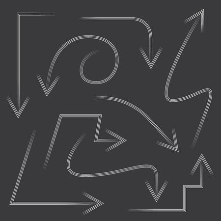 upwards: hand drawn arrows Illustration