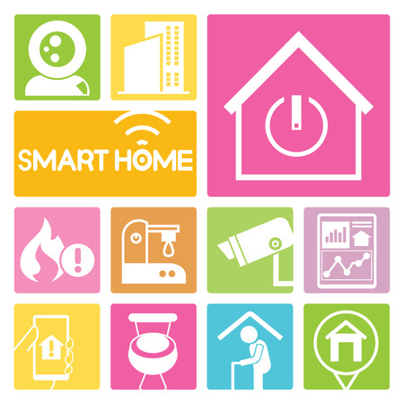 home security: home automation icons