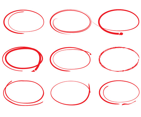 hand draw circles set