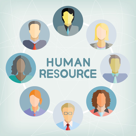 team business: human resource Illustration