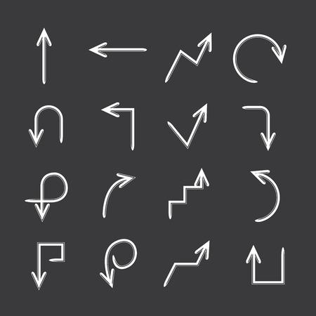 arrow set: arrow set Illustration