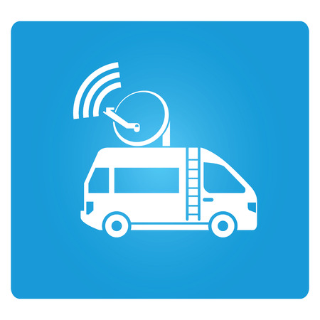 news van: broadcasting vehicle, news truck