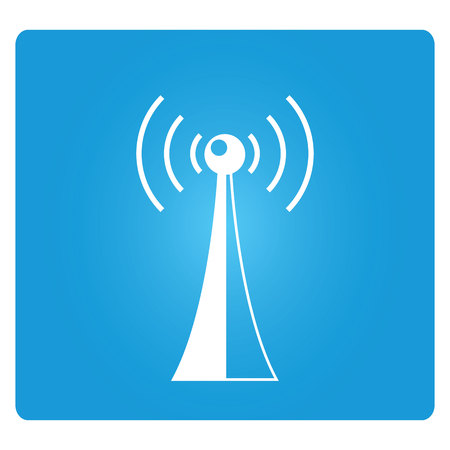 communications tower: communications tower Illustration