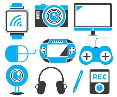 gadget: electronic gadget icons Illustration