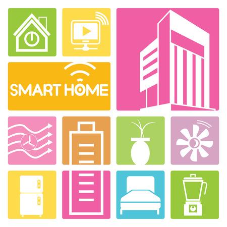 turbine: smart home icons, colorful design