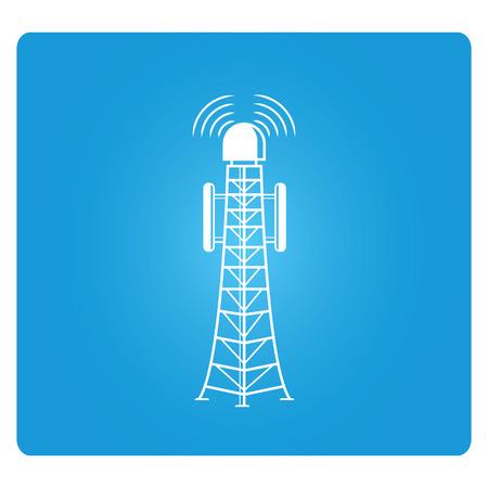 communication tower: communication tower Illustration