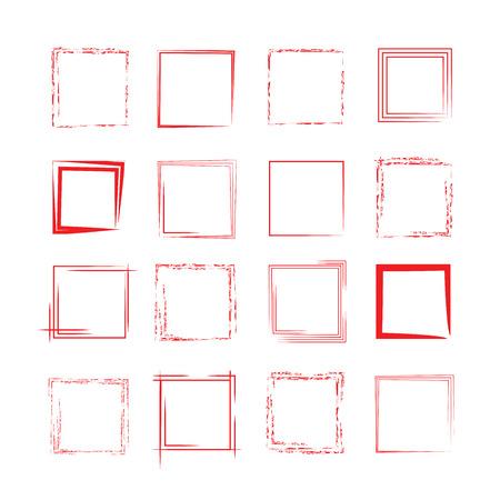 rode grung kader Stock Illustratie