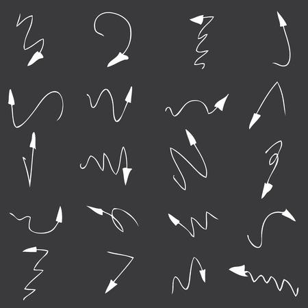 upwards: hand drawn arrows set Illustration