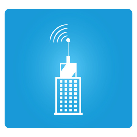 cellular repeater: communication tower Illustration