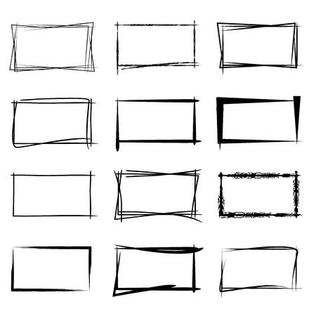 boceto: marcos grunge rectángulo