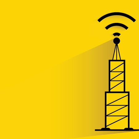 antenna: communication antenna tower Illustration