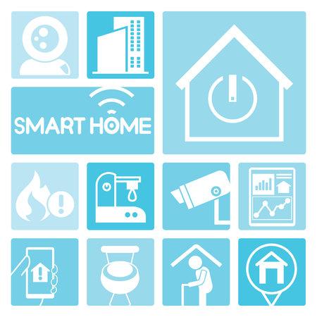 house energy: smart home Illustration
