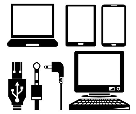 computer device: computer, smart device icons