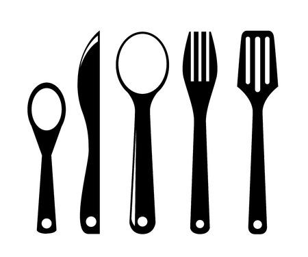 utensils: kitchen utensils Illustration