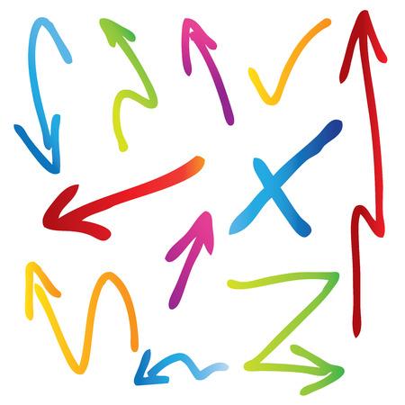 arrows, highlighter elements Illustration
