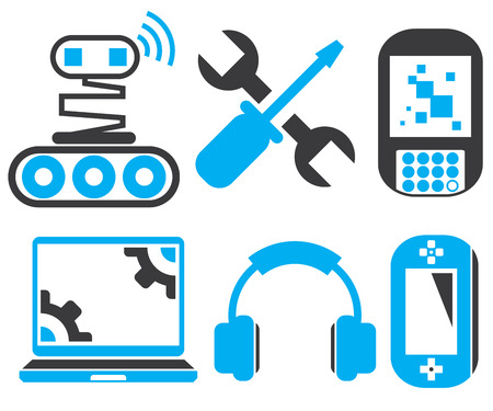 electronic device: electronic device, smart gadget icons Illustration