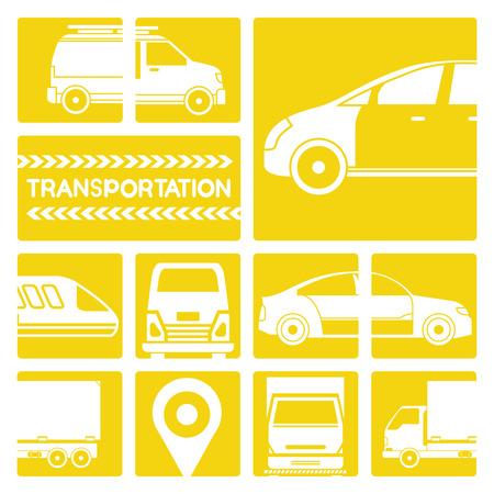 portage: transportation, vehicle icons