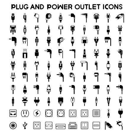 energia electrica: iconos enchufe eléctrico, Iconos de salida