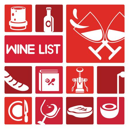 winery: wine icons set Illustration