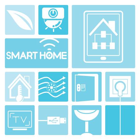 house energy: smart home icons