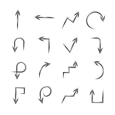 bent: sketch arrow signs Illustration
