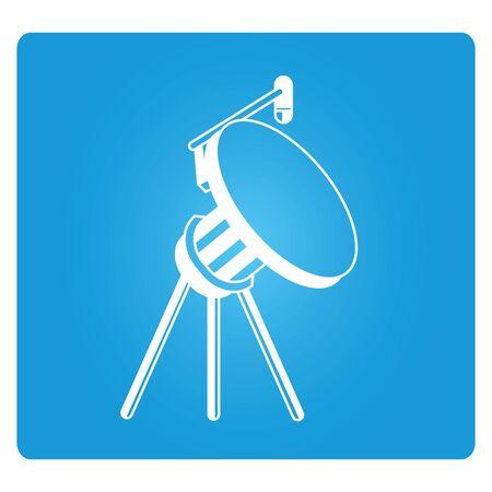 blue button: satellite dish