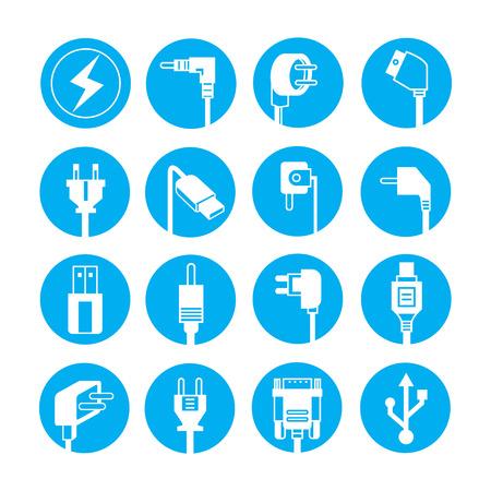 plug electric: iconos enchufe el�ctrico, botones azules