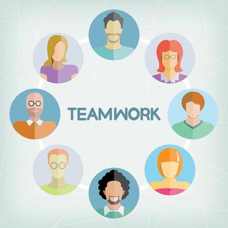 dispensation: teamwork concept illustration