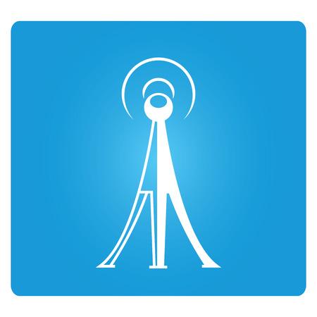 radio: telecommunications radio tower Illustration