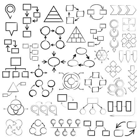 sketch diagram, chart, graph, sketch info graphic elements